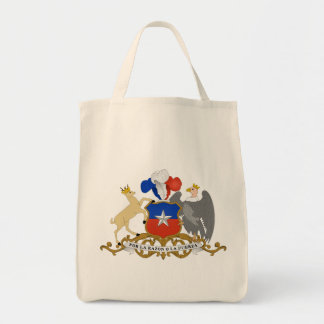 chile emblem grocery tote bag