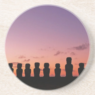 Chile Figures In The Sunset Drink Coaster