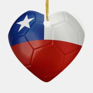 Chile Flag Ball Ceramic Heart Decoration