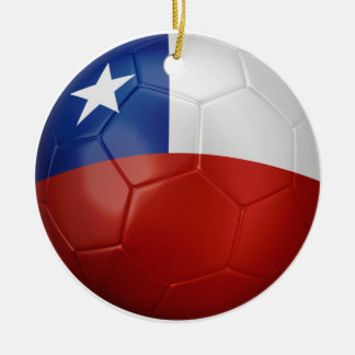 Chile Flag Ball Round Ceramic Decoration