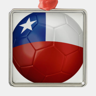Chile Flag Ball Silver-Colored Square Decoration