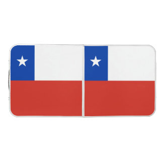 Chile Flag Beer Pong Table