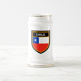 Chile Flag Beer Stein
