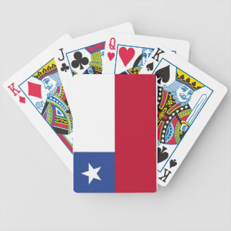 Chile flag bicycle playing cards