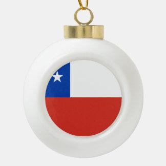 Chile Flag Ceramic Ball Decoration