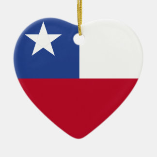 Chile flag ceramic ornament