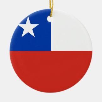 Chile Flag Ceramic Ornament