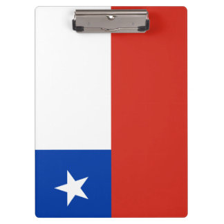 Chile Flag Clipboard