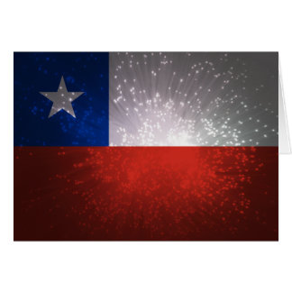 Chile Flag Firework Note Card