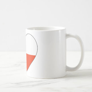 Chile Flag Heart Coffee Mug