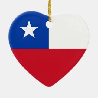 Chile Flag Heart Ornament