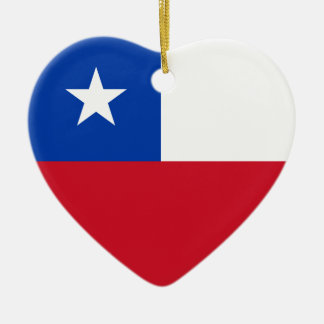 Chile Flag Heart Ornament
