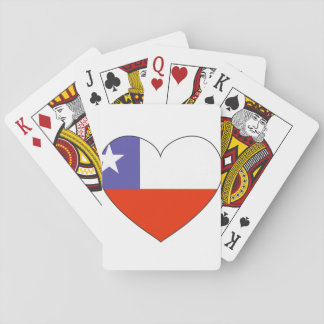 Chile Flag Heart Playing Cards