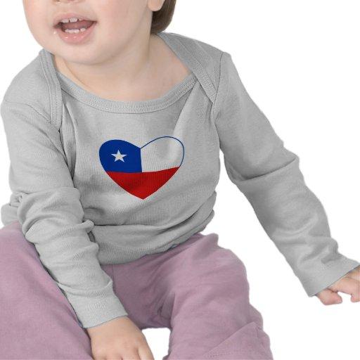 Chile Flag Heart T-Shirt
