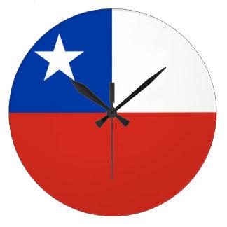 Chile Flag Large Clock