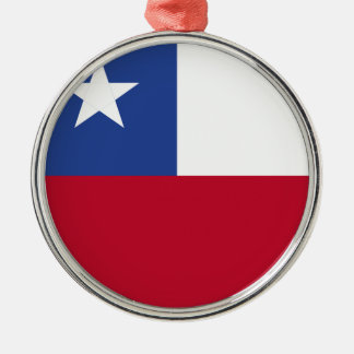 Chile flag metal ornament