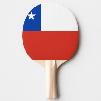 Chile Flag Ping Pong Paddle