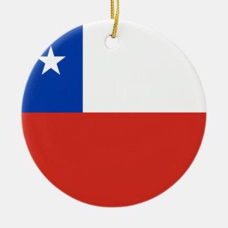 Chile Flag Round Ceramic Decoration
