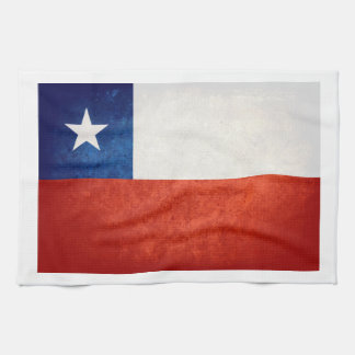 Chile Flag; Tea Towel