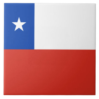 Chile Flag Tile