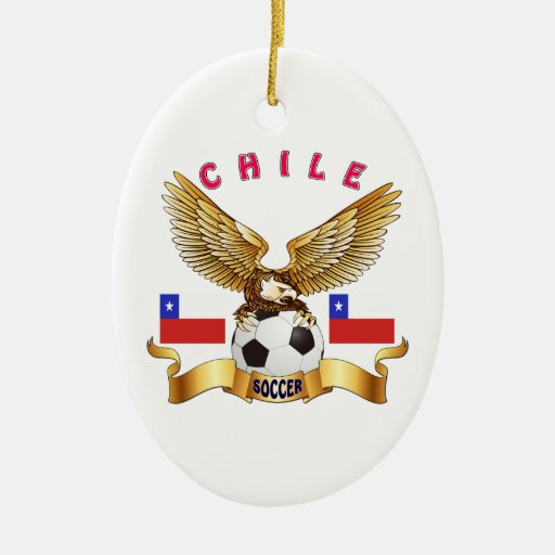 Chile Football Designs Christmas Tree Ornaments