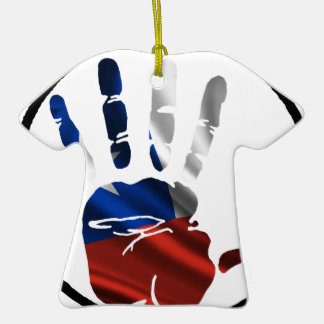 CHILE HAND CIRCLE PRODUCTS Double-Sided T-Shirt CERAMIC CHRISTMAS ORNAMENT