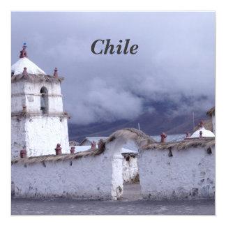 """Chile 5.25"""" Square Invitation Card"""