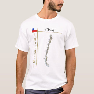 Chile Map + Flag + Title T-Shirt