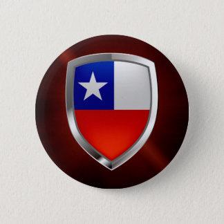 Chile Mettalic Emblem 6 Cm Round Badge