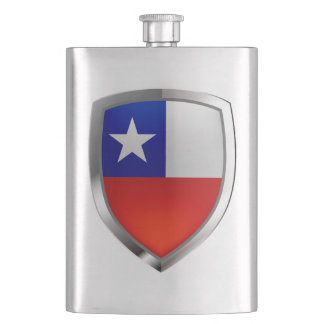 Chile Mettalic Emblem Hip Flask