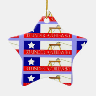 Chile miner rescue ceramic star decoration
