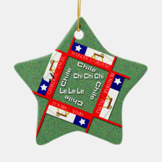 Chile miners miracle ceramic star decoration
