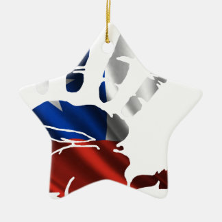 CHILE NICE HAND FLAG PRODUCTS CHRISTMAS ORNAMENTS