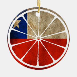 CHILE ORANGE PRODUCTS Double-Sided CERAMIC ROUND CHRISTMAS ORNAMENT