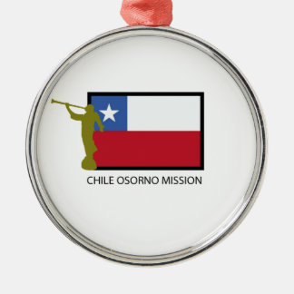 Chile Osorno Mission LDS CTR Silver-Colored Round Decoration