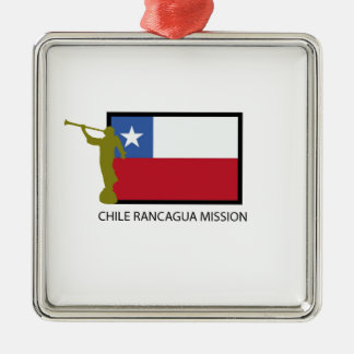 Chile Rancagua Mission LDS CTR Silver-Colored Square Decoration