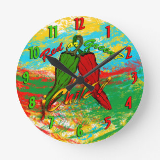 Chile - Red or Green? Round Clock
