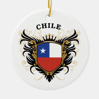 Chile Round Ceramic Decoration