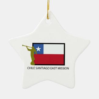 Chile Santiago East Mission LDS CTR Ceramic Ornament