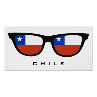 Chile Shades custom text & color poster