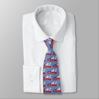 Chile Soccer Football Flag Design Tie