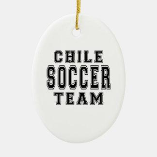 Chile Soccer Team Ceramic Oval Decoration