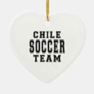 Chile Soccer Team Ceramic Heart Decoration