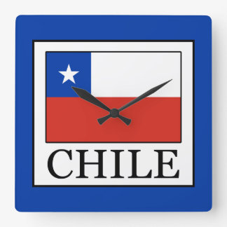 Chile Square Wall Clock