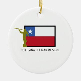 Chile Vina del Mar Mission LDS CTR Ceramic Ornament