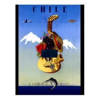 Chile Vintage Travel Poster Post Cards