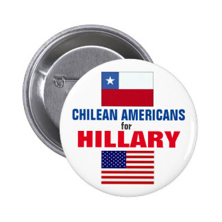 Chilean Americans for Hillary 2016 6 Cm Round Badge
