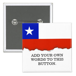 Chilean Flag 15 Cm Square Badge