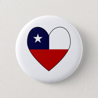 Chilean Flag Heart Valentine 6 Cm Round Badge