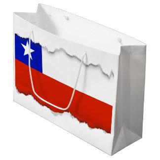 Chilean Flag Large Gift Bag
